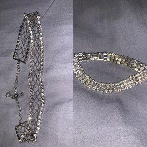 Choker and bracelet bundle set